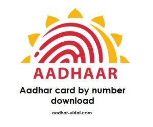 Aadhar card by number download