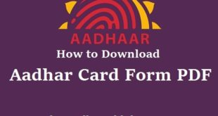 aadhar card correction form download