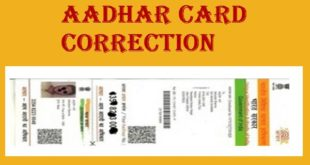 Aadhaar Card Correction Status